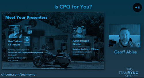 Webinar: Is CPQ for You? Ft. C5's Geoff Ables