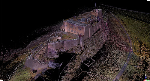Vikings, high winds and the North Sea. How Trimble X7 and Scansite encountered unusual challenges at Lindisfarne Castle