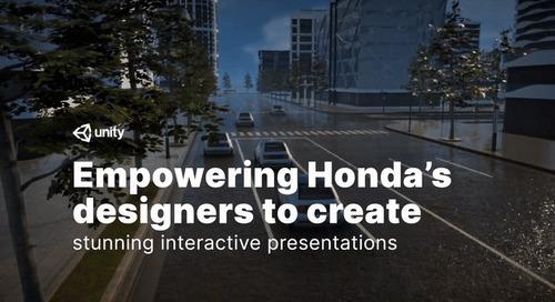 How Honda's designers use Unity to create stunning, interactive presentations