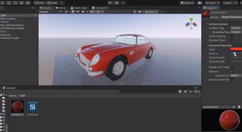 Configure Car Paint Materials
