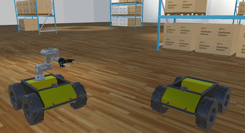 ROS World 2021: Simulating multiple mobile warehouse robots with ROS2 and Unity