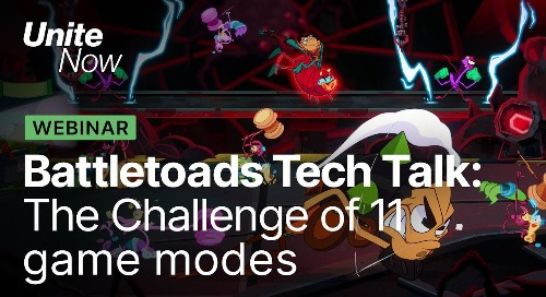 How Unity helped Dlala overcome the challenges of Battletoads' 11 game modes