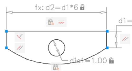 概要 - パラメトリック図面と拘束