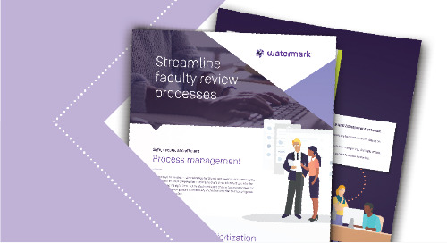 Streamline University and Faculty Review Processes