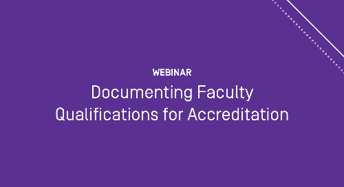 Documenting Faculty Qualifications for Accreditation