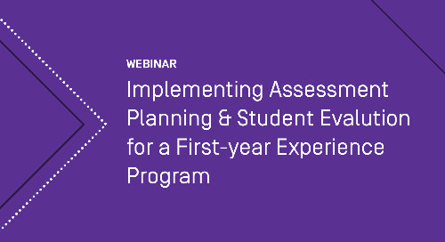 Implementing Assessment Planning and Student Evaluation for a First-Year Experience Program