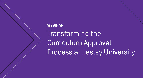 Transforming the Curriculum Approval Process at Lesley University