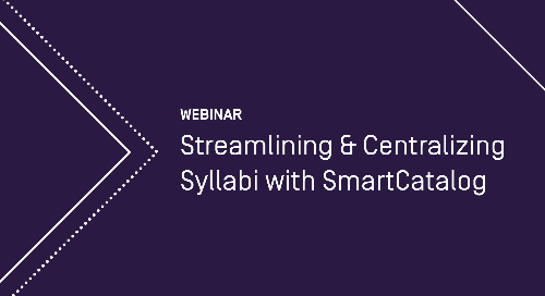 Streamlining & Centralizing Syllabi with Curriculum Strategy (formerly SmartCatalog)