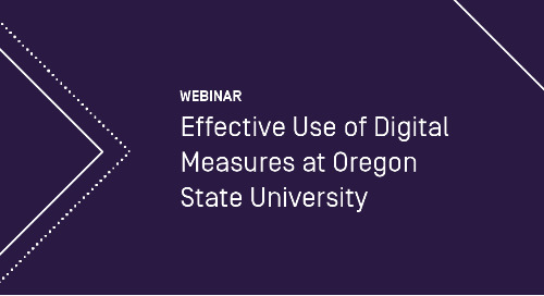 Effective Use of Digital Measures at Oregon State University