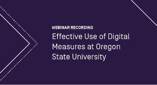 Effective Use of Digital Measures at Oregon State University
