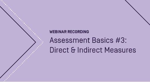 Assessment Basics #3: Direct & Indirect Measures