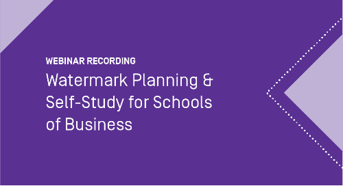 Watermark Planning & Self-Study for Schools of Business
