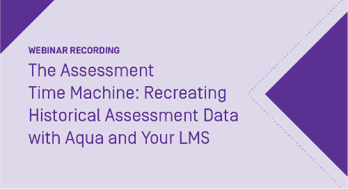 The Assessment Time Machine: Recreating Historical Assessment Data with Outcomes Assessment Projects (formerly Aqua) and your LMS