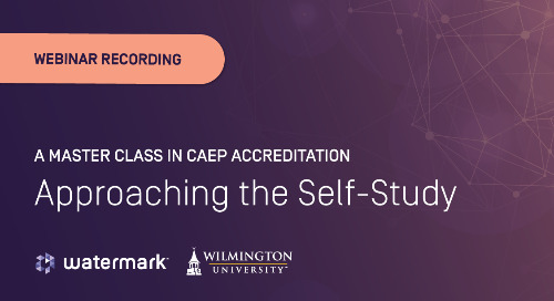 A Master Class in CAEP Accreditation: Approaching the Self-Study