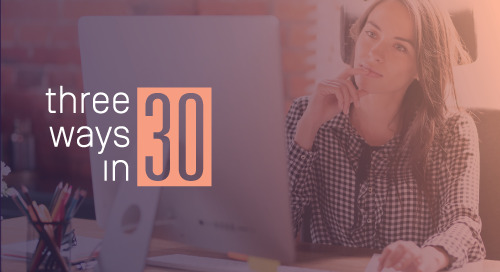 Three Ways in 30: Creating Impressive Web Profiles