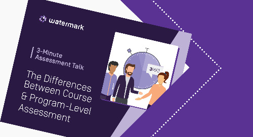 3-Minute Assessment Talk - The Differences Between Course and Program-Level Assessment