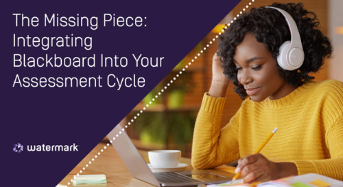 The Missing Piece: Integrating Blackboard Into Your Assessment Cycle