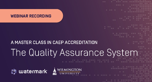 A Master Class in CAEP Accreditation: The Quality Assurance System