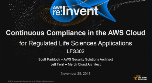 Video: Continuous Compliance in the AWS Cloud