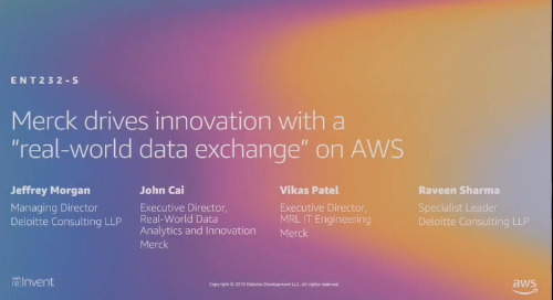 "Video: Merck drives innovation with a ""real-world data exchange"" on AWS"