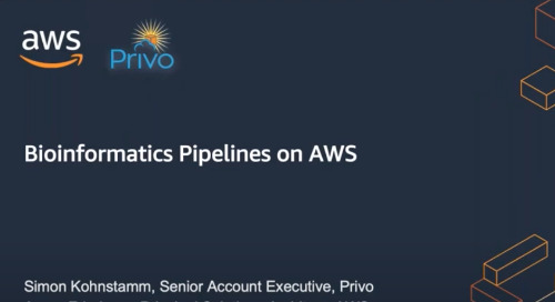 Webinar: Bioinformatics Pipelines and Orchestration Tools on AWS