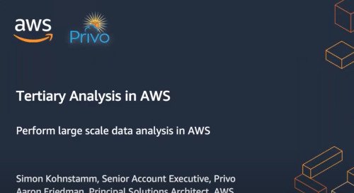 Webinar: Making Sense of your R&D Data - Tertiary Analysis Tools on AWS