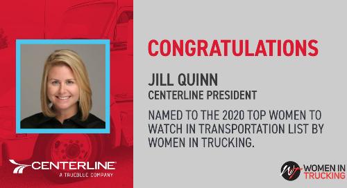 Jill Quinn Named a Top Woman to Watch in Transportation by Women in Trucking