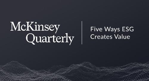Five Ways That ESG Creates Value | McKinsey