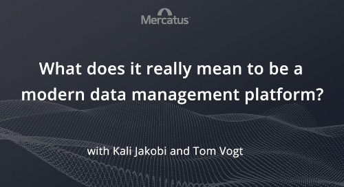 Modern Data Management Platform...What does that mean?