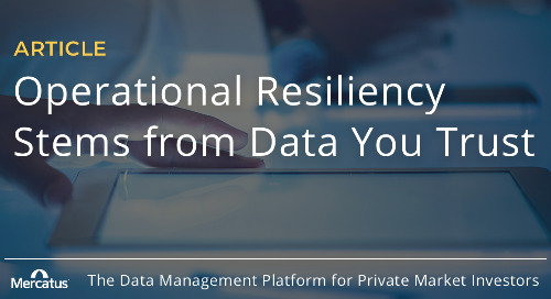 Operational Resiliency Stems from Data You Trust