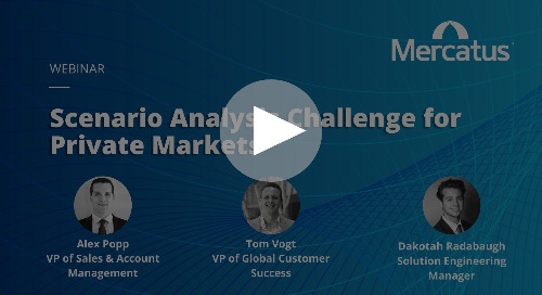 Webinar Recording | The Scenario Analysis Challenge for Private Markets