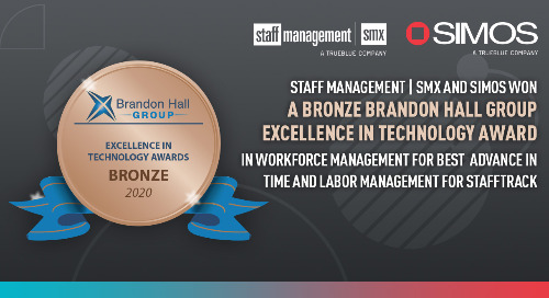 Staff Management | SMX and SIMOS Solutions Win Bronze in Brandon Hall Group Excellence in Technology Awards