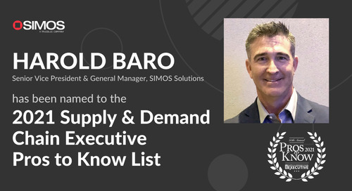 SIMOS Solutions' Harold Baro named to Supply & Demand Chain Executive's 2021 Pros to Know list