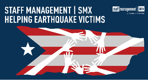 Staff Management | SMX helps earthquake victims
