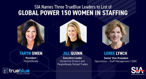 Three TrueBlue Leaders Named to SIA's Global Power 150 – Women in Staffing List 2020