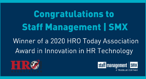 Staff Management | SMX Wins HRO Today Association Award for Innovation in HR Technology