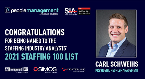 PeopleManagement President Carl Schweihs Named to Staffing Industry Analysts' Staffing 100 List