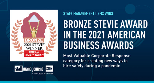 Staff Management | SMX awarded Bronze Stevie® award in 2021 American Business Awards®