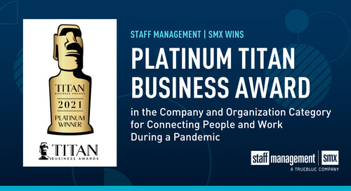 Staff Management | SMX awarded Platinum Award in 2021 Titan Business Awards