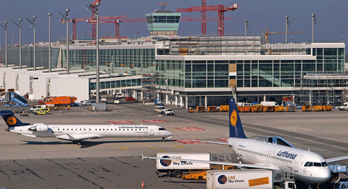 Major construction site in the heart of Munich Airport