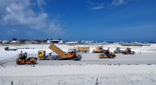 Maldives Airport Expansion and Runway Paving Project Powered by Trimble Office Software and Field Solutions
