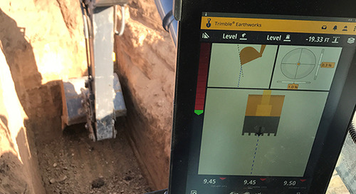 Rock Structures Speeds Basement and Utility Excavation by 50% with Trimble Earthworks Grade Control Platform