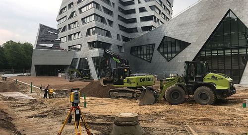 German Contractor Completes Complex Landscape Design for Leuphana University with Trimble Technology
