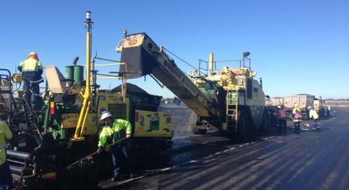 Precise 3D Paving boosts safety at transportation terminal