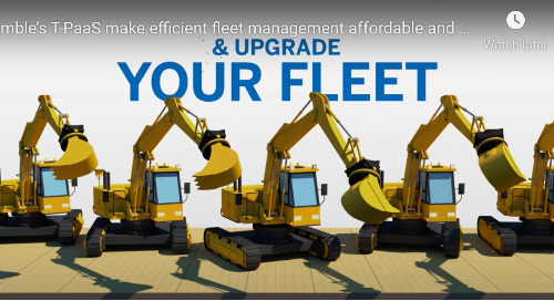 Trimble's T-PaaS platform makes efficient fleet management simple, predictable and affordable