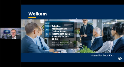 Trimble Management Online Event: (ETIM) BIM [9 maart 2021]