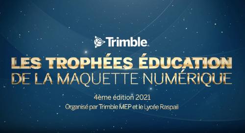 Les Lauréats des Trophées Éducation de la Maquette Numérique 2021