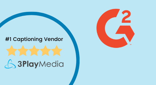 We're proud to be rated the #1 captioning vendor on G2Crowd!