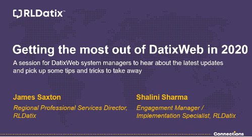 Watch DatixWeb Tips & Tricks On-demand