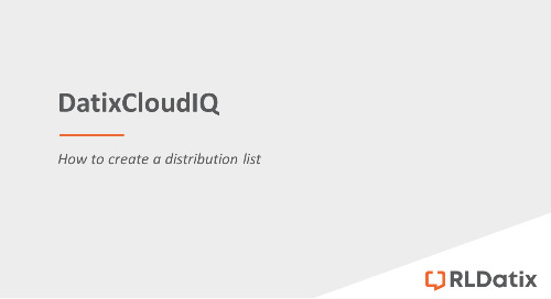 DatixCloudIQ: Creating a distribution list
